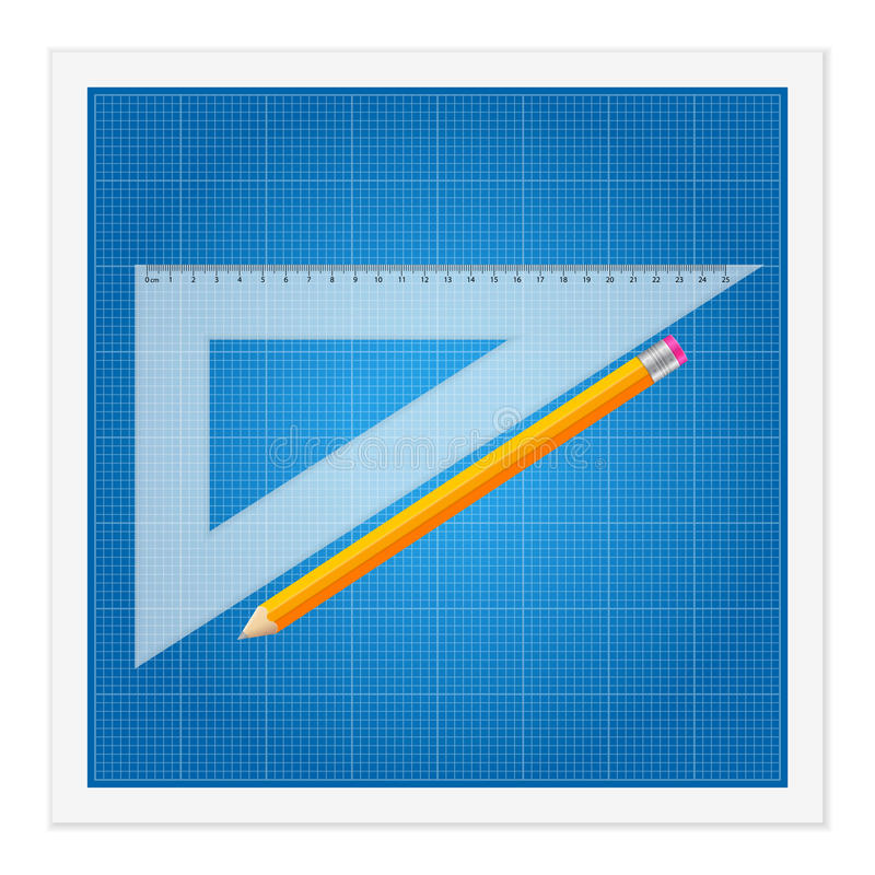 Download Blueprint And Ruler Instruments Stock Vector - Image: 38610926