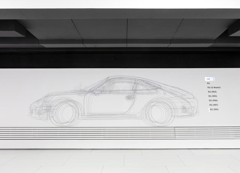 Blueprint sketch design of 356 automobile in porsche museum download blueprint sketch design of 356 automobile in porsche museum editorial photo image of racecar malvernweather Images