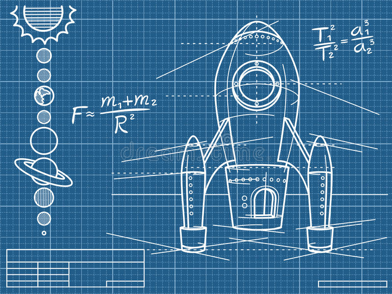 Blueprint with spaceship and planets stock vector illustration download blueprint with spaceship and planets stock vector illustration of document rocket 30206558 malvernweather Choice Image