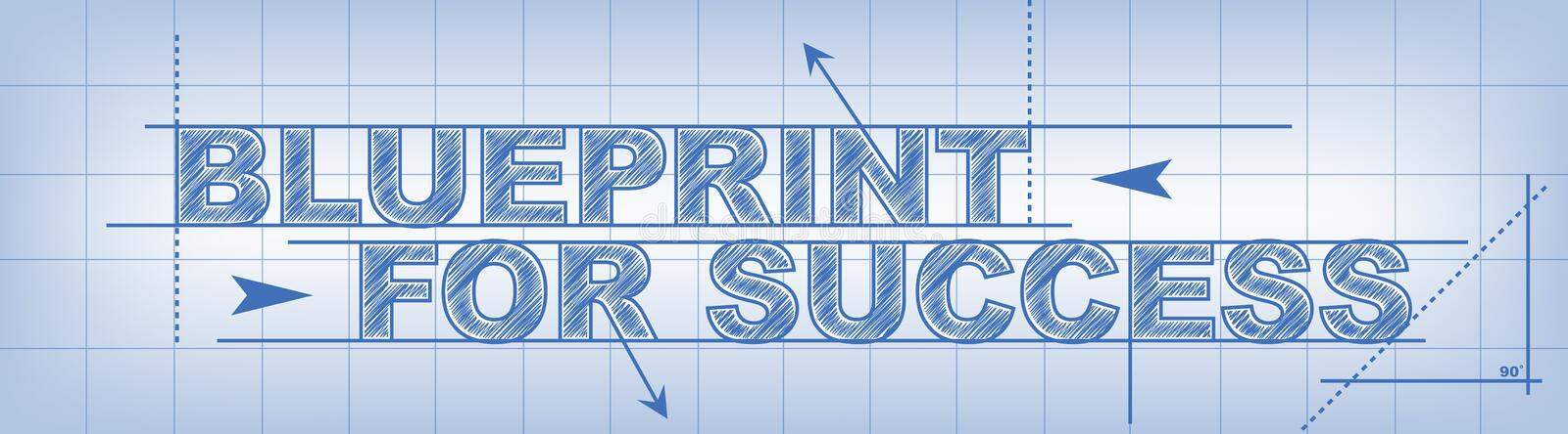 Blueprint For Success vector illustration