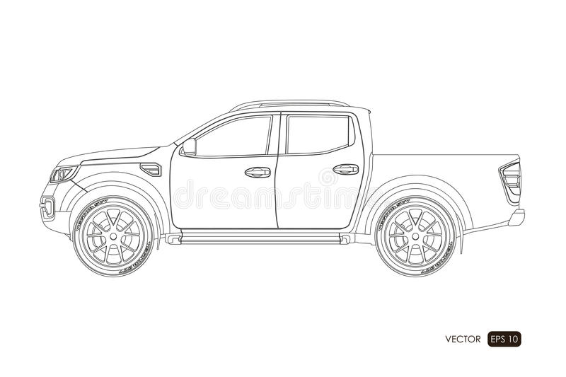 Blueprint of suv contour drawing of car on a white background side download blueprint of suv contour drawing of car on a white background side view malvernweather Choice Image