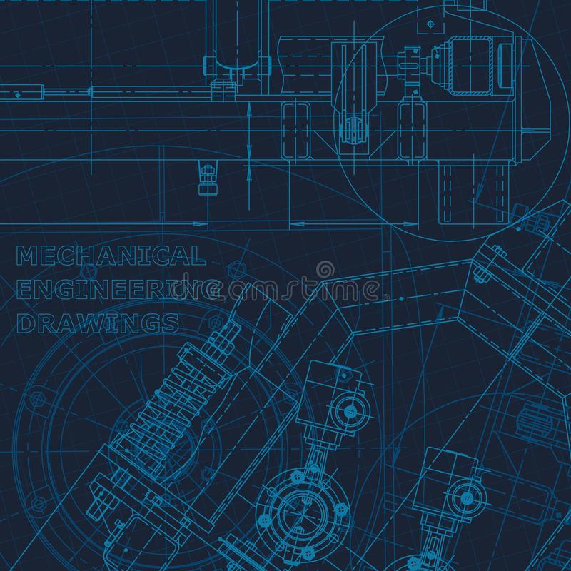 Technical cyberspace, Corporate Identity. Blueprint. Vector engineering illustration royalty free illustration