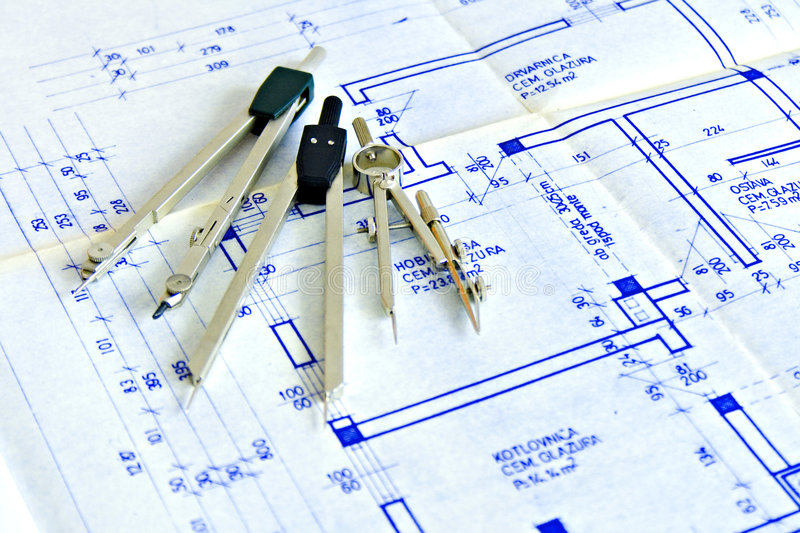Blueprint and tools stock image image of divider drawing 3151857 blueprint and tools malvernweather Image collections
