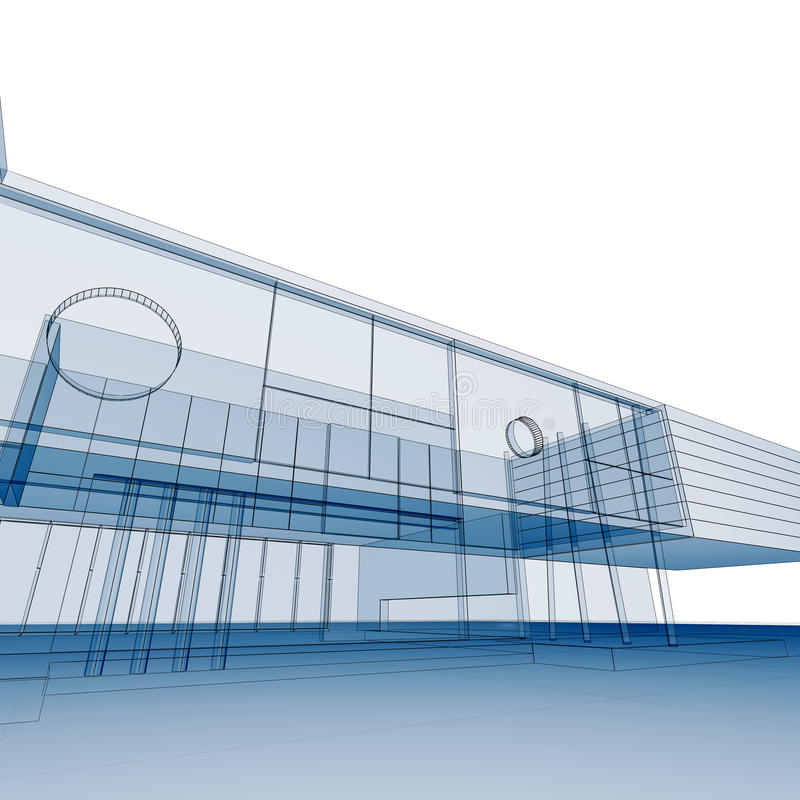 Download Blueprint on white stock illustration. Image of design - 13505591