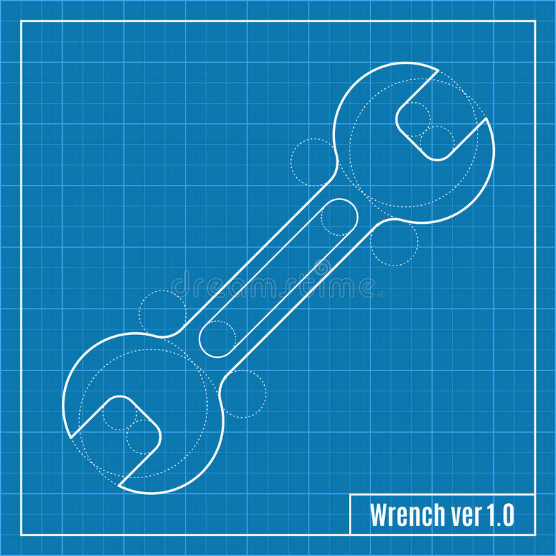 Blueprint of wrench stock vector illustration of document 54933085 download blueprint of wrench stock vector illustration of document 54933085 malvernweather Image collections