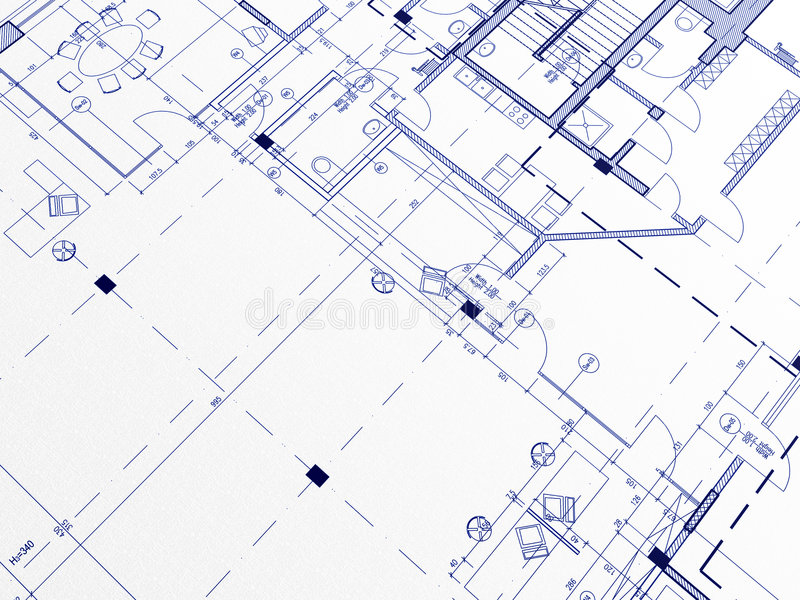 Blueprints stock illustration