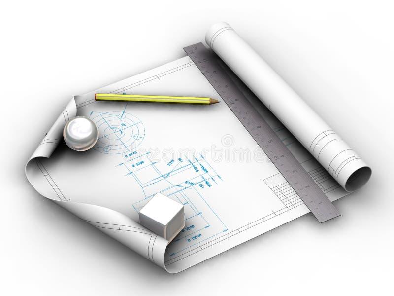 Blueprints ilustração stock