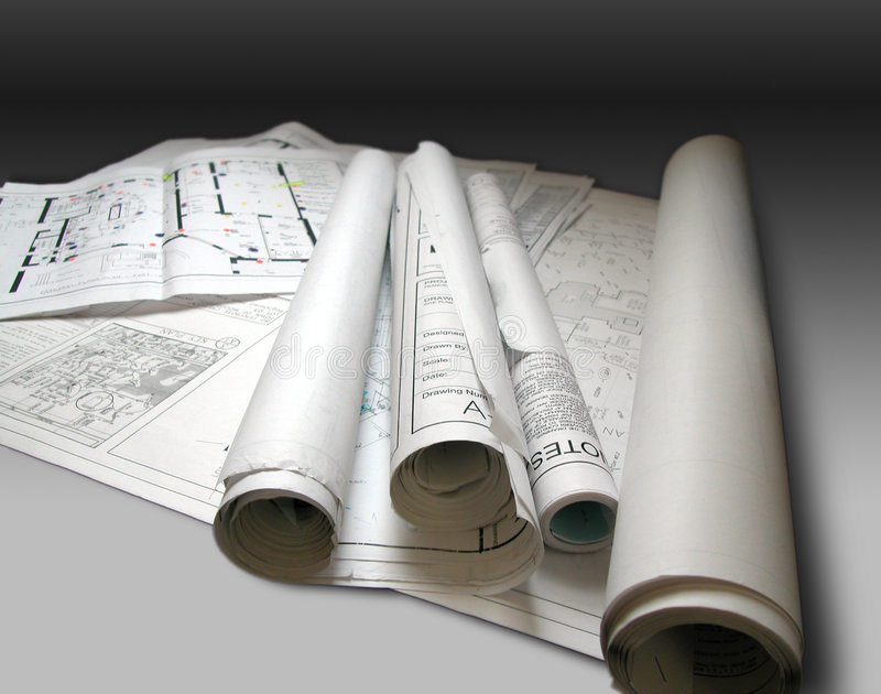 Blueprints. Photo of architectural building plans ...was popular shot February 2005, June 2005 and August 2005