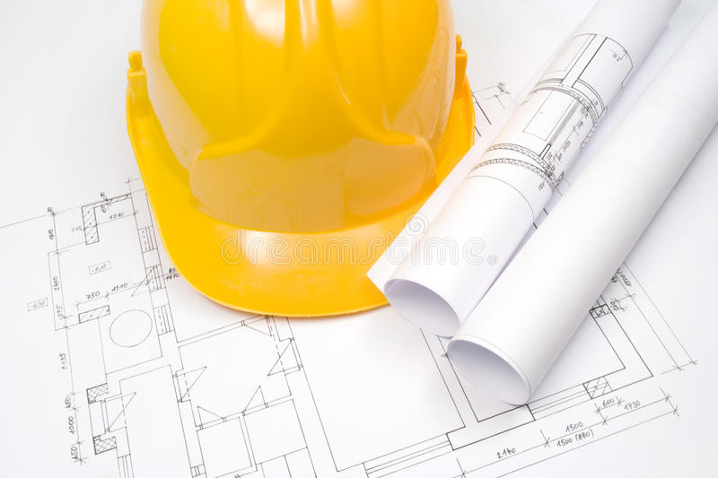 Download Blueprints And Helmet Stock Photography - Image: 15423202