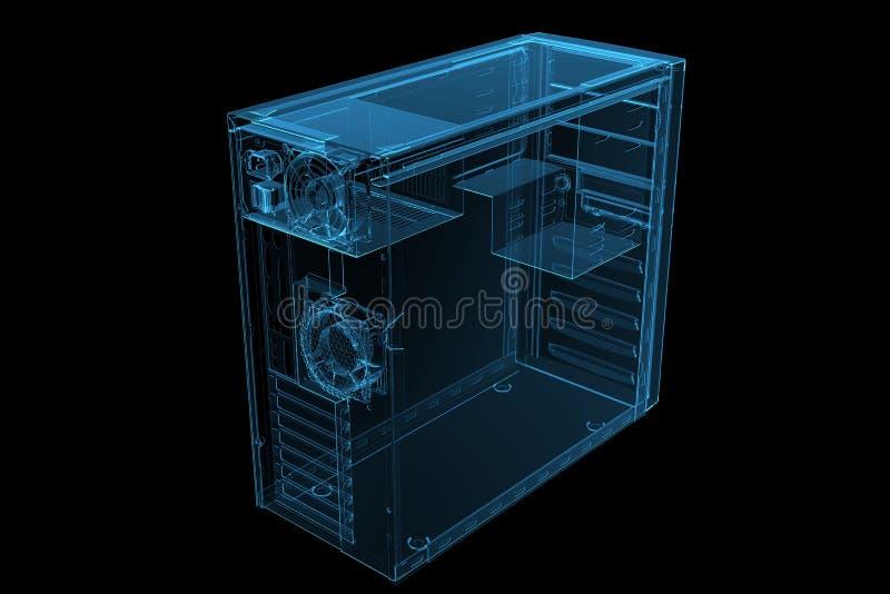 blueröntgenstråle för pilar 3d royaltyfri illustrationer