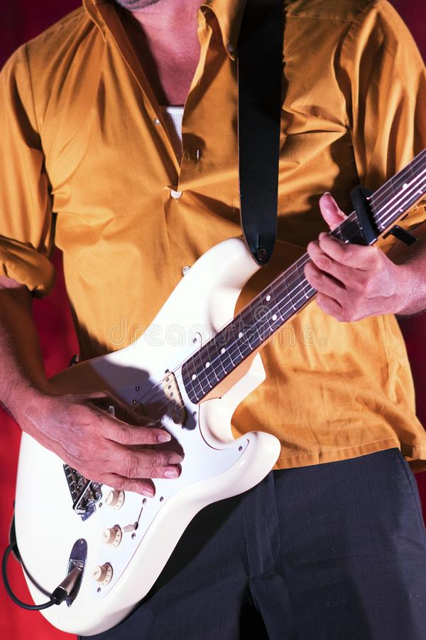 A Blues Artist Performing on Stage stock photo