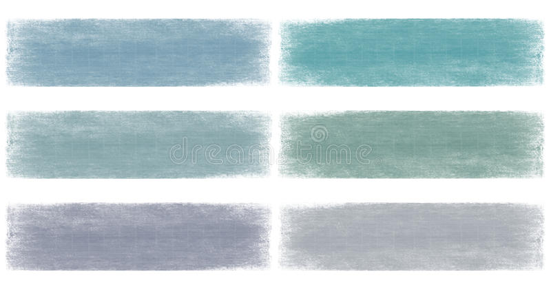 Download Blues Faded Grunge Banner Set Stock Photo - Image: 13353838