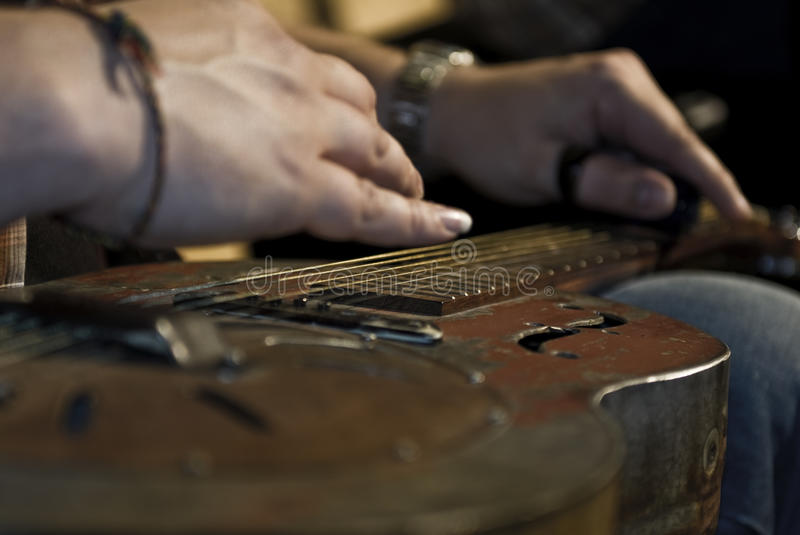 Blues Guitar royalty free stock photography