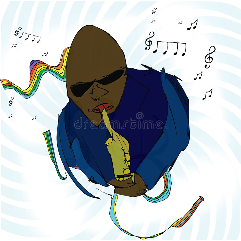 Download Blues Man stock vector. Image of jazz, instrument, person - 5258211