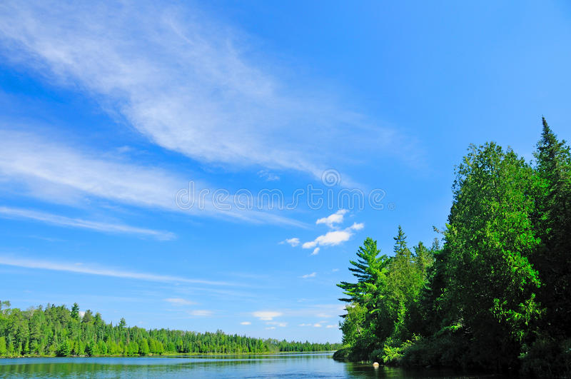 Download Blues Skies Over The Quetico Stock Image - Image: 19822583