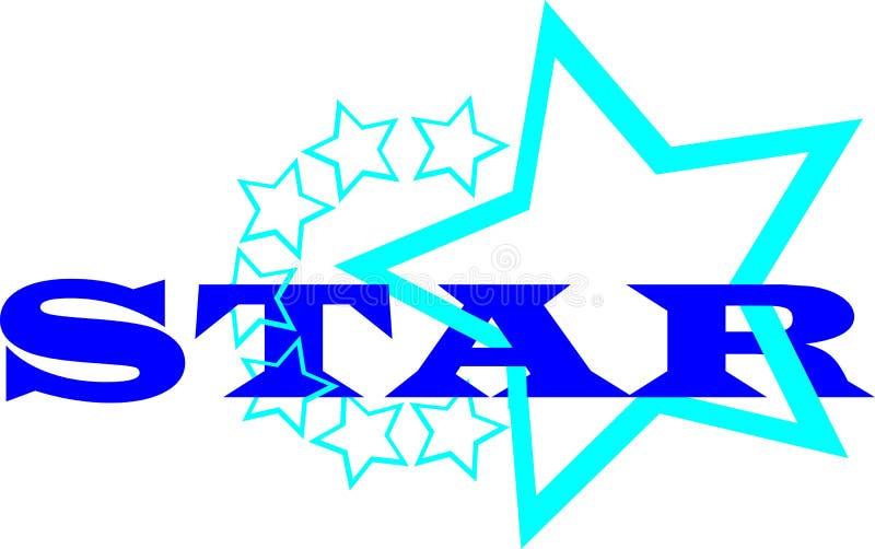 Blues star logo royalty free illustration