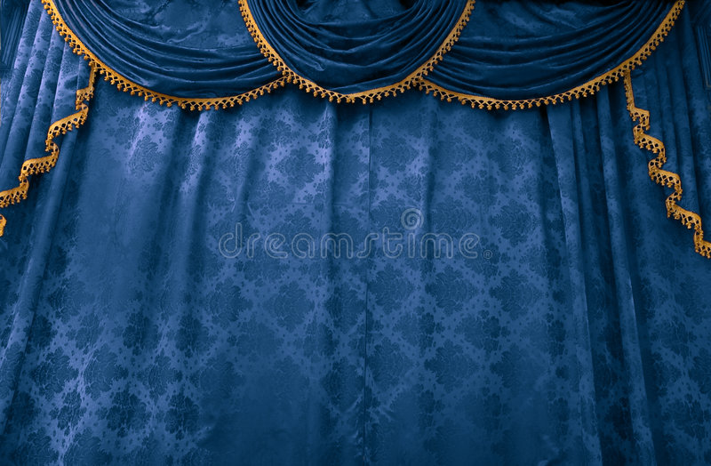 Bluestage curtain stock photography