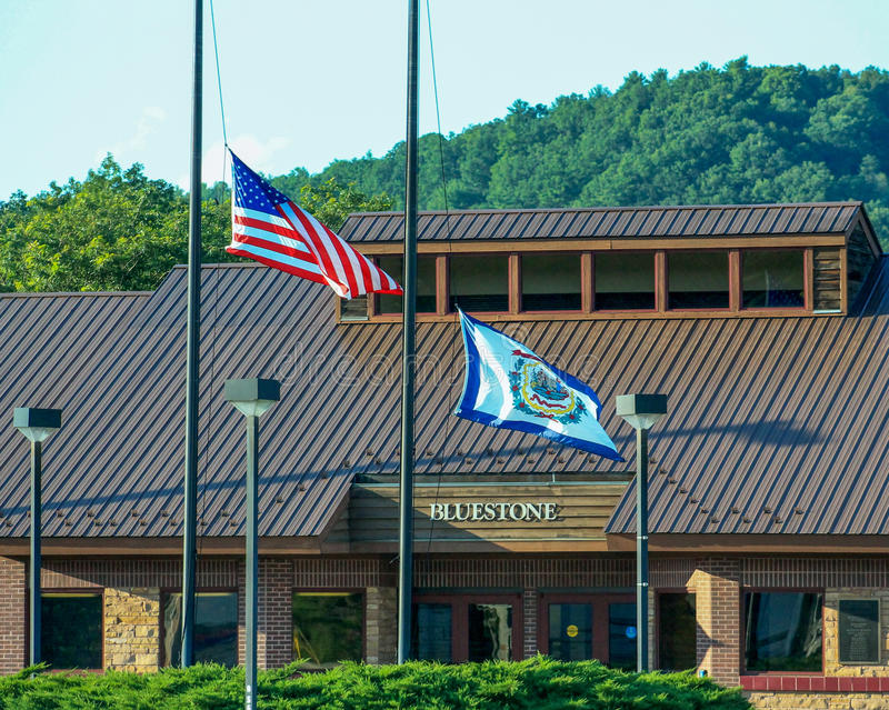 Bluestone Welcome Center in WV stock image