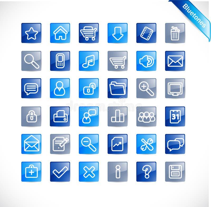 bluetones νέος καθορισμένος Ιστό&si απεικόνιση αποθεμάτων