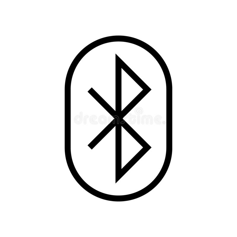 Bluetooth line icon vector illustration