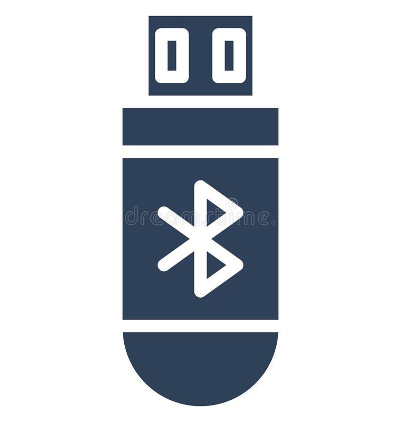 Bluetooth adaptator, bluetooth przyrząd Odizolowywał Wektorową ikonę Która może redagująca w jakaś rozmiarze modyfikuje lub ilustracja wektor