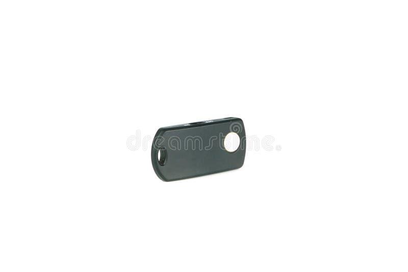 Bluetooth-Fernbedienung für den Smartphone lokalisiert auf weißem Hintergrund lizenzfreie stockbilder