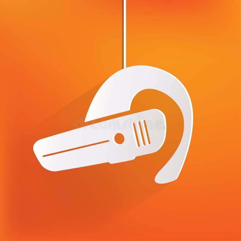 Bluetooth Hörlurar Med Mikrofonsymbol. Trådlös Anslutning Vektor ...
