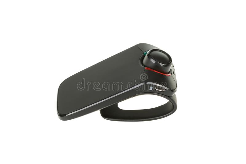 Bluetooth hands-free car kit isolated on white background, with clipping path royalty free stock images