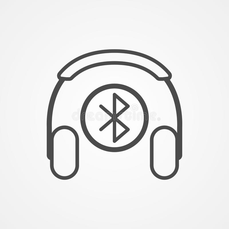 Bluetooth headphone vector icon sign symbol vector illustration