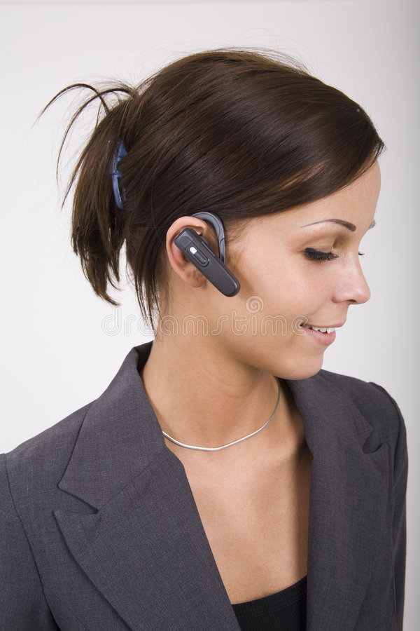 Download Bluetooth headset stock image. Image of smiling, headphone - 4145389