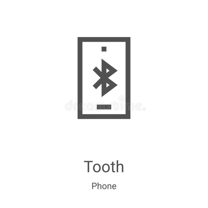 bluetooth icon vector from phone collection. Thin line bluetooth outline icon vector illustration. Linear symbol for use on web vector illustration