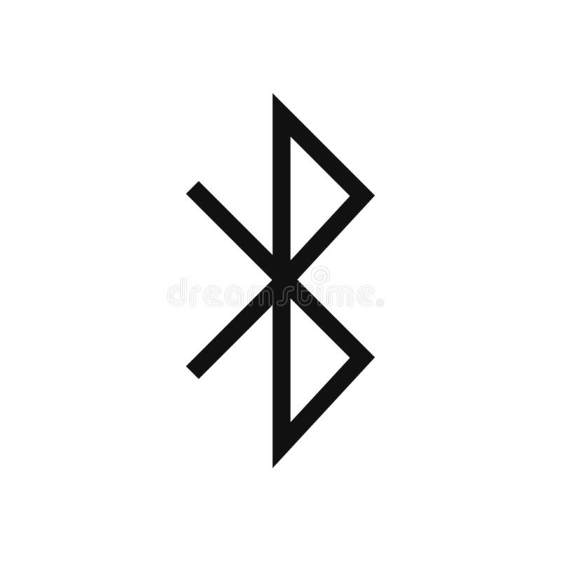 Bluetooth icon vector. Simple bluetooth sign in modern design style for web site and mobile app. EPS10 stock illustration
