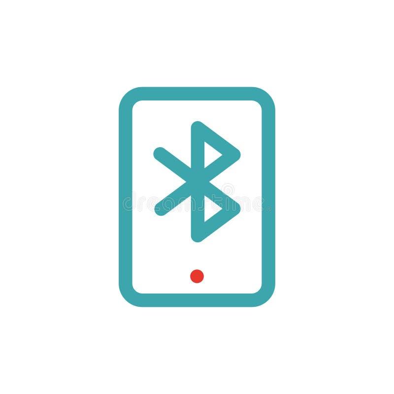 Bluetooth ikona na pastylka laptopu wektoru ilustration royalty ilustracja