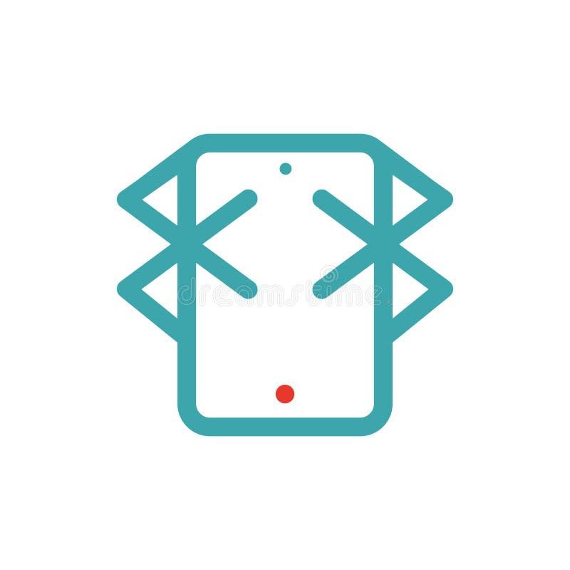 Bluetooth ikona na pastylka laptopu wektoru ilustration ilustracji