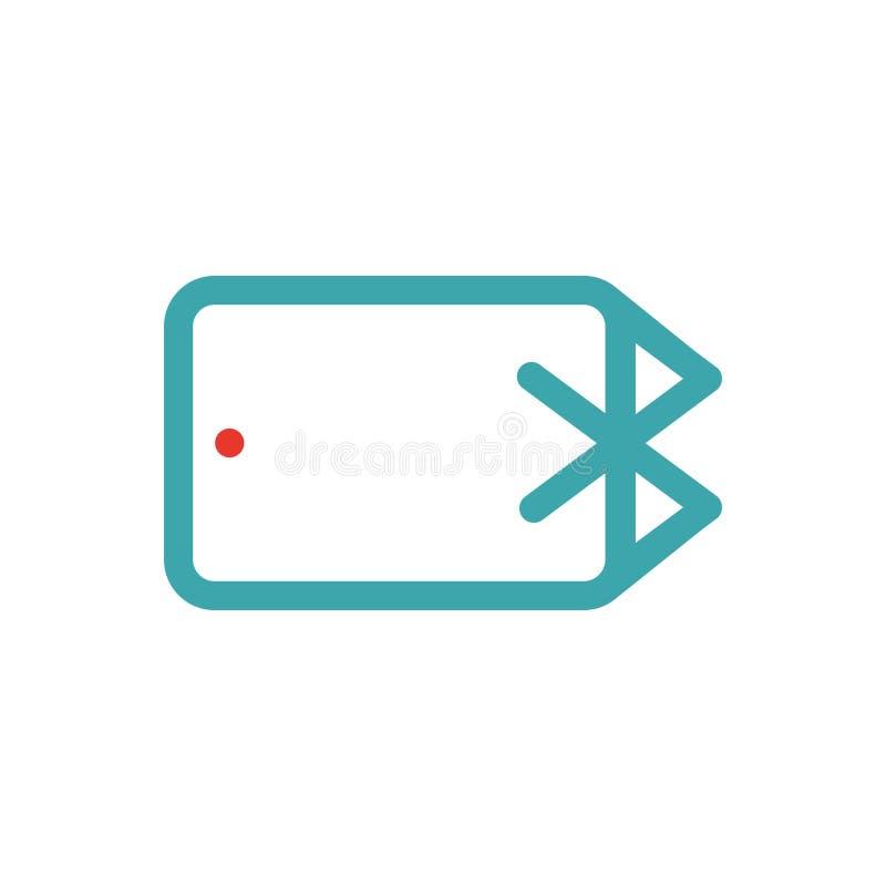 Bluetooth ikona na pastylka laptopu wektoru ilustration ilustracja wektor