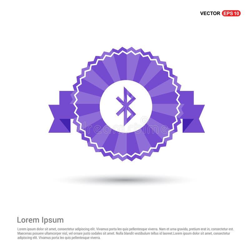 Bluetooth ikona - Purpurowy Tasiemkowy sztandar royalty ilustracja