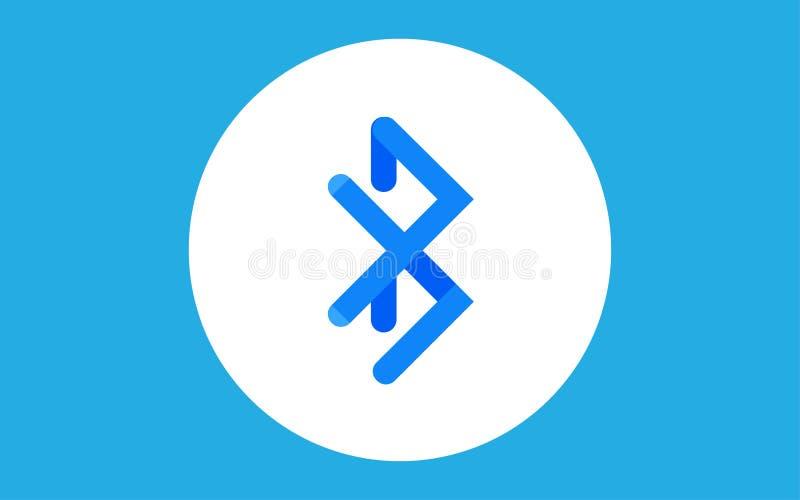 Bluetooth-Ikonenzeichensymbol stock abbildung
