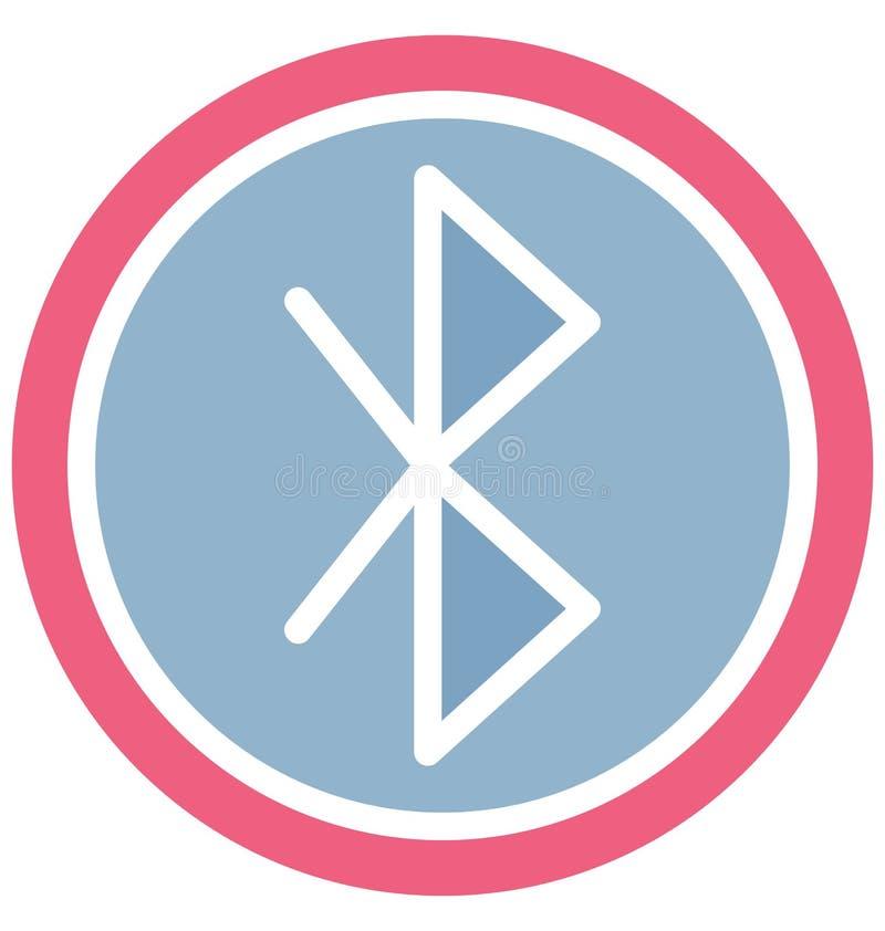 Bluetooth a isol? l'ic?ne de vecteur qui peut facilement modifier ou ?diter illustration libre de droits