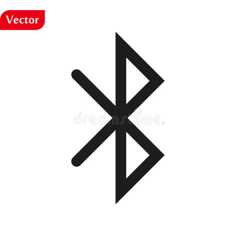 Bluetooth logo sign icon in trendy flat style isolated on white background, modern symbol vector illustration for web royalty free illustration