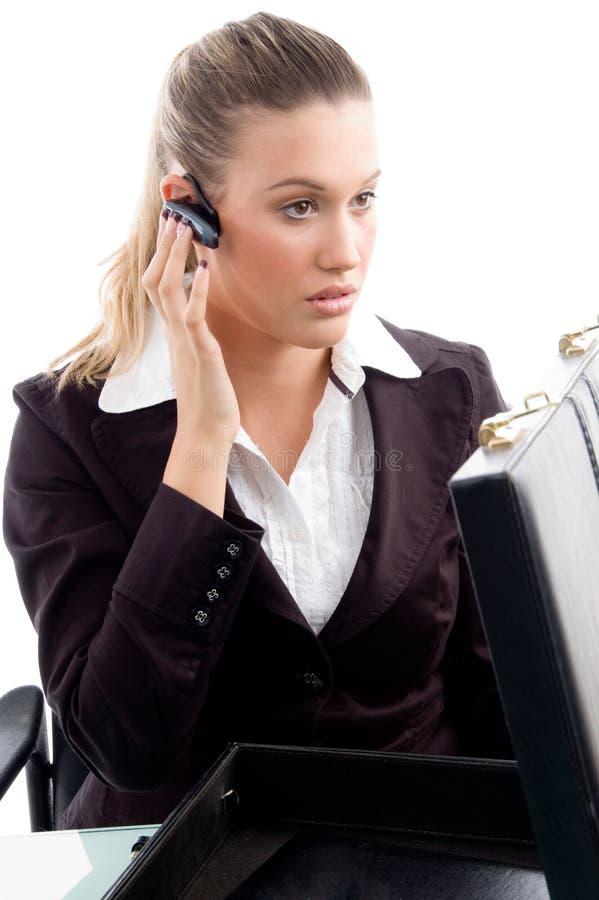 bluetooth professional wearing woman στοκ φωτογραφίες
