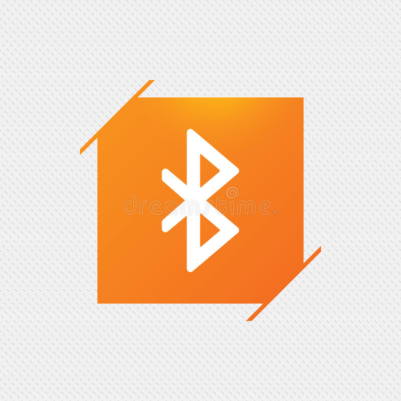 Bluetooth sign icon. Mobile network symbol. vector illustration
