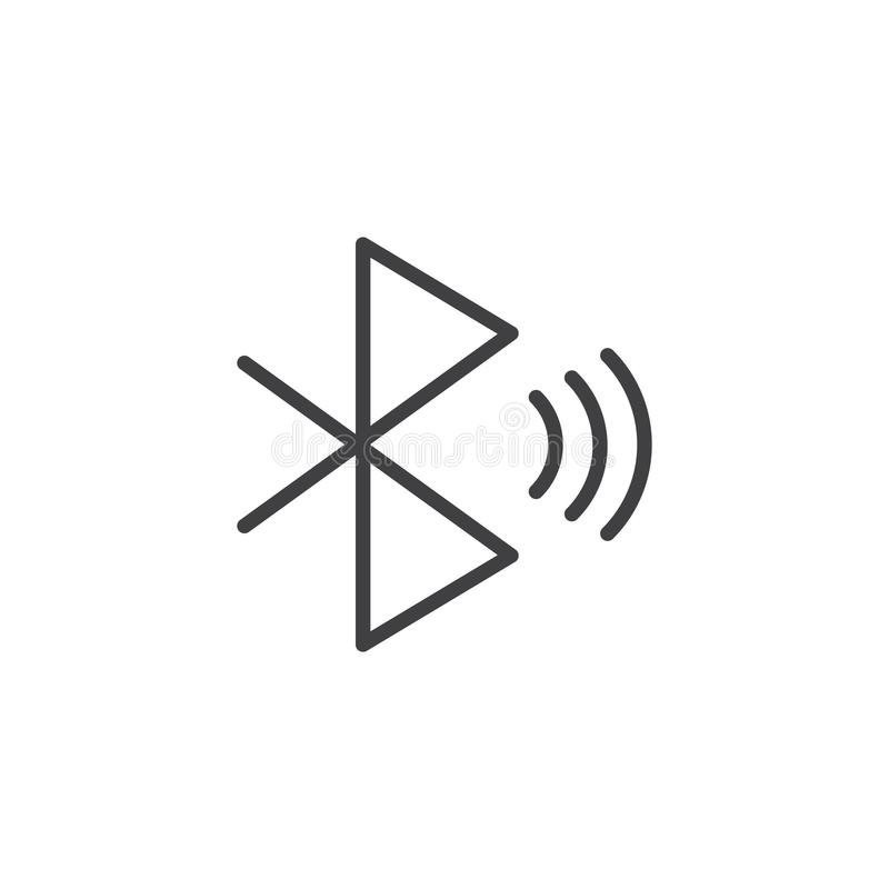Bluetooth signal outline icon vector illustration