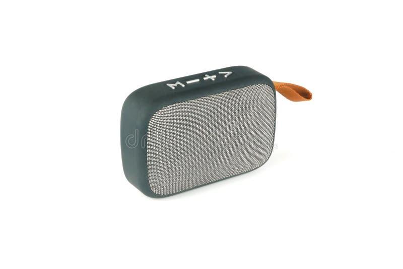 Bluetooth-Spreker op witte achtergrond wordt ge?soleerd die stock afbeelding