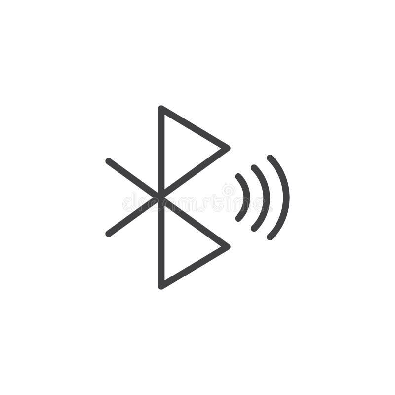 Bluetooth sygnału konturu ikona ilustracja wektor