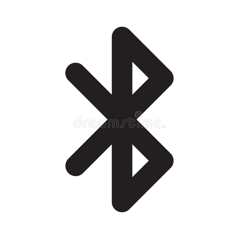 Bluetooth symbol royaltyfri illustrationer
