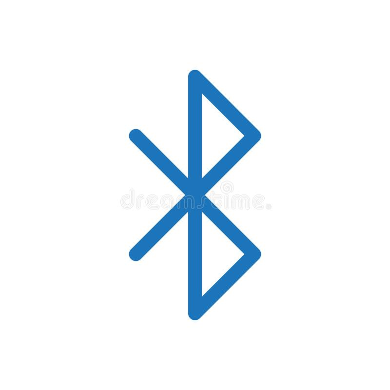 Bluetooth symbolsvektor vektor illustrationer