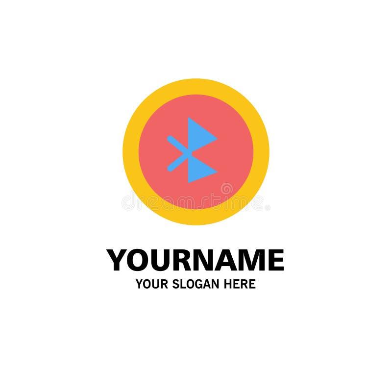 Bluetooth, Ui, affaires Logo Template d'interface utilisateurs couleur plate illustration libre de droits