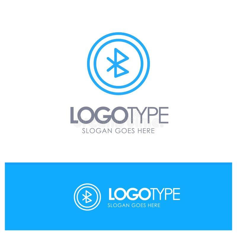 Bluetooth, Ui, contour bleu Logo Place d'interface utilisateurs pour le Tagline illustration stock