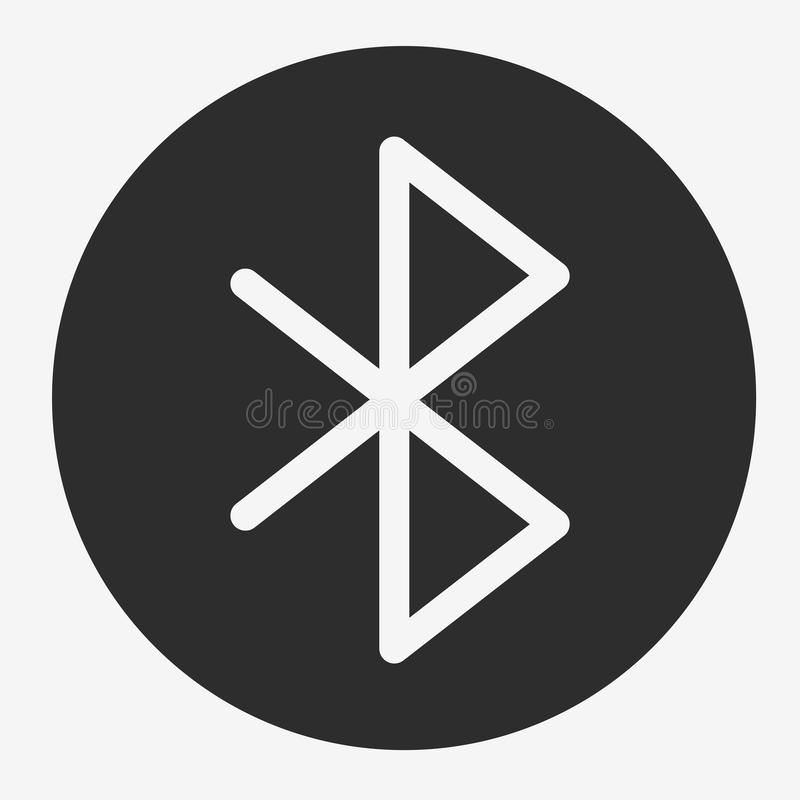 Bluetooth Vector Icon royalty free illustration