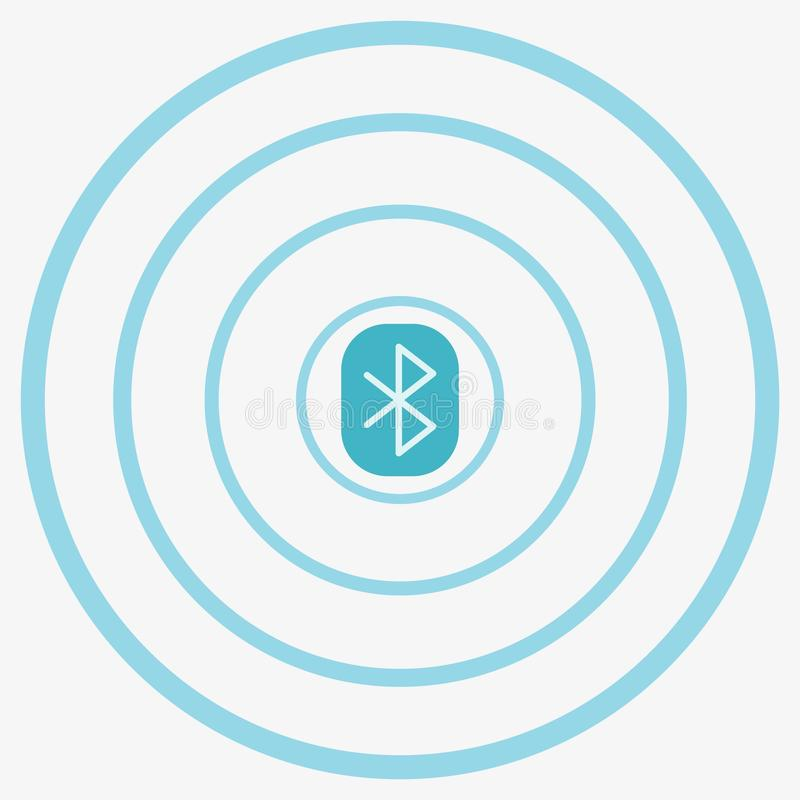 Bluetooth Vector Icon stock illustration
